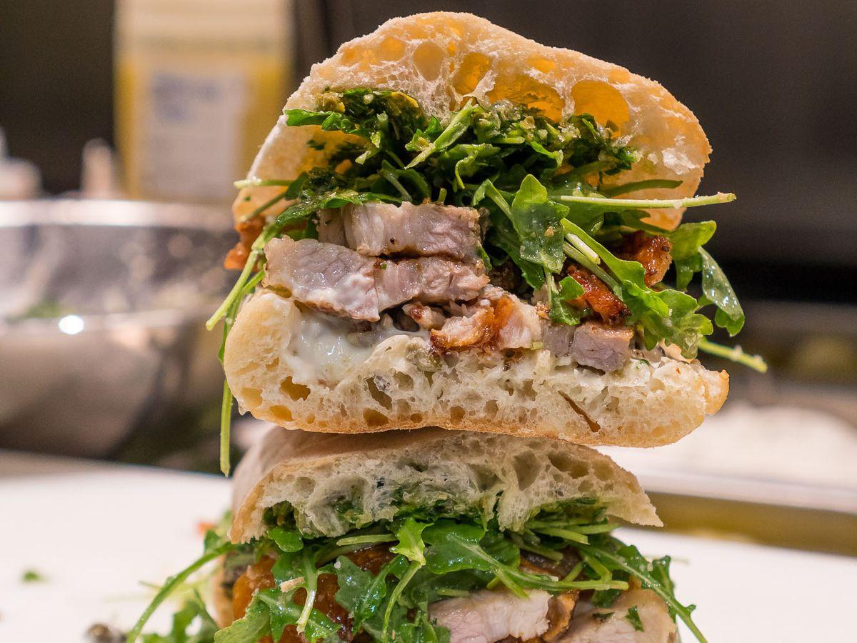 Porchetta sandwich at Lardo