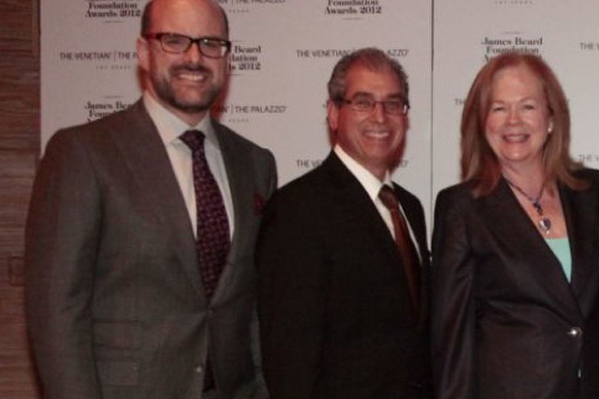 JBF vice president Mitchell Davis, Venetian and Palazzo president and COO John Caparella and JBF president Susan Ungaro