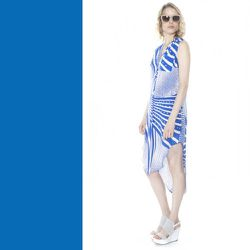 """Dazzling Blue: <b>Otte New York</b> Printed Ellen Dress, <a href=""""http://otteny.com/printed-ellen-dress.html"""">$395</a>"""