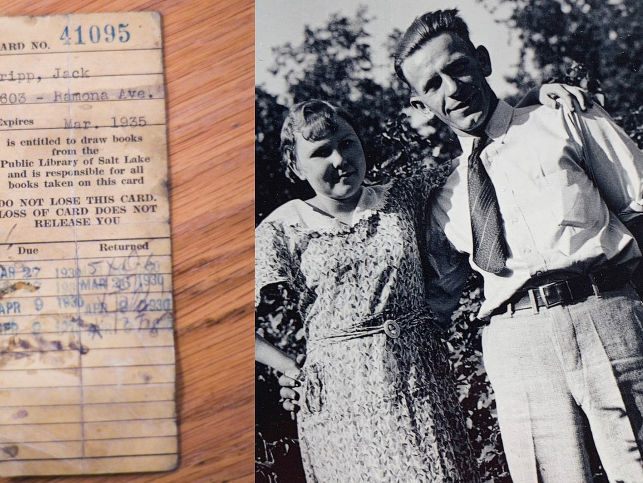 The Salt Lake Library found a missing card from 1930. We found the owner