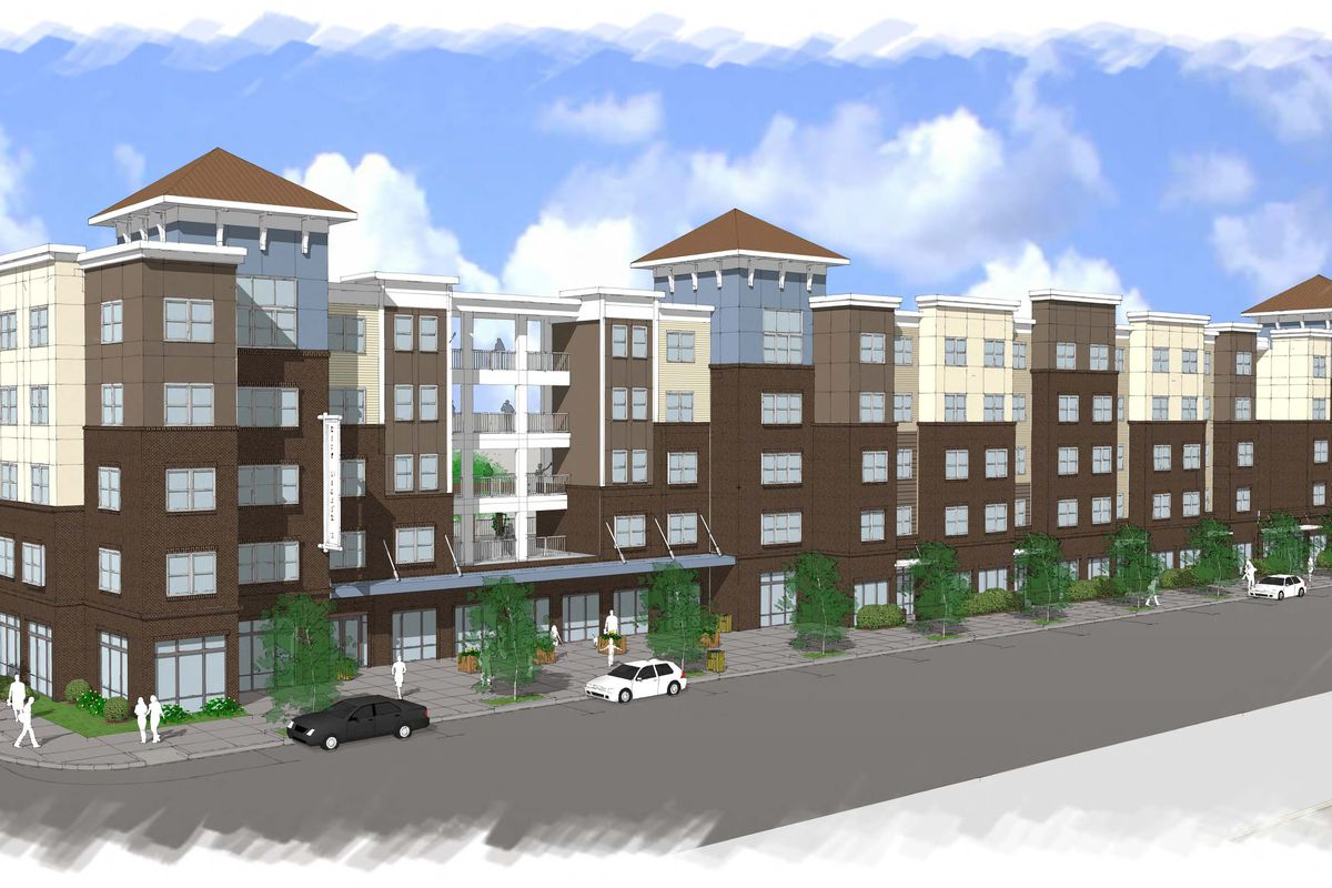 A rendering of the second phase, promising 96 more apartments in Old Fourth Ward.