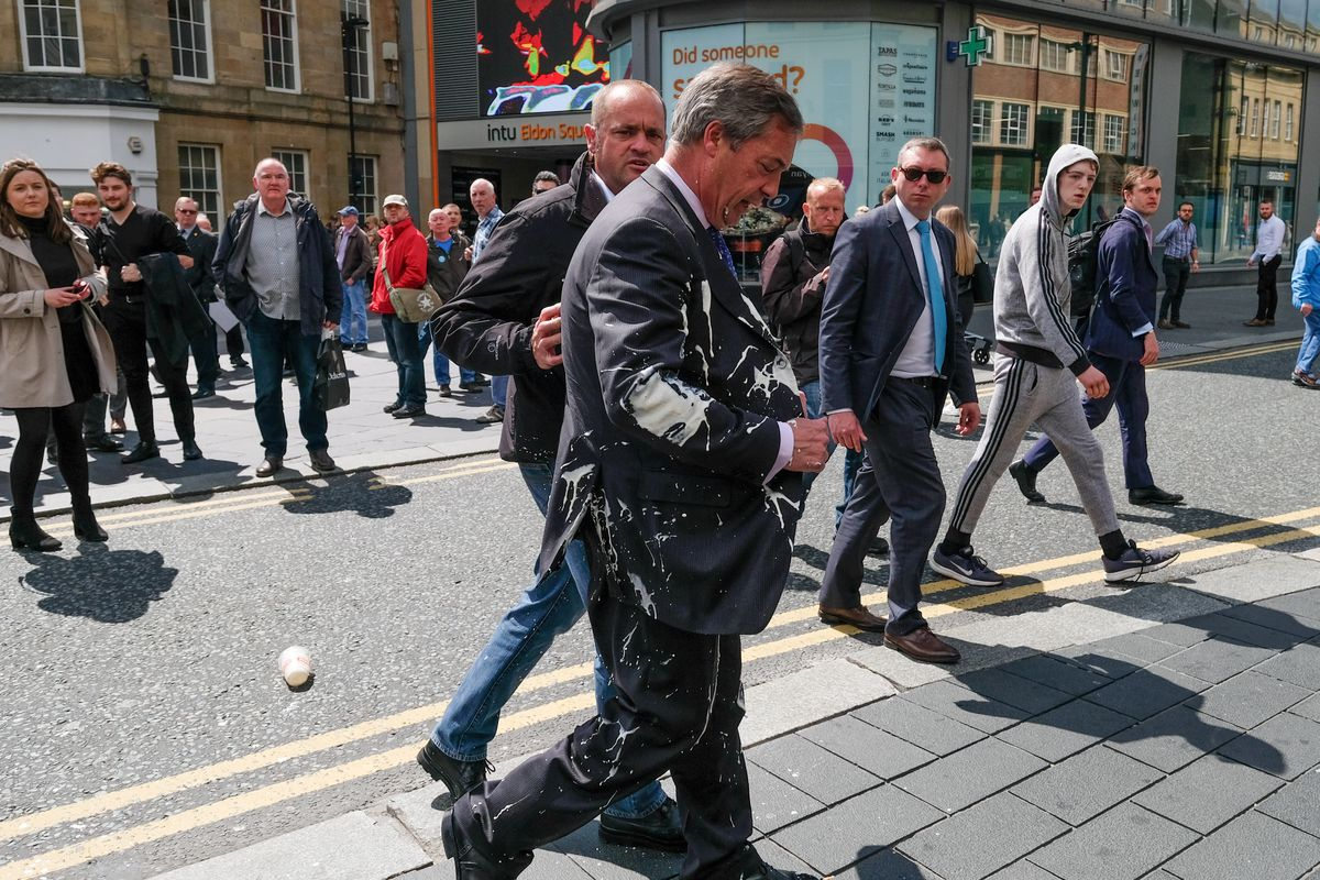 Nigel Farage Undertakes A Whistle-Stop Tour Of England