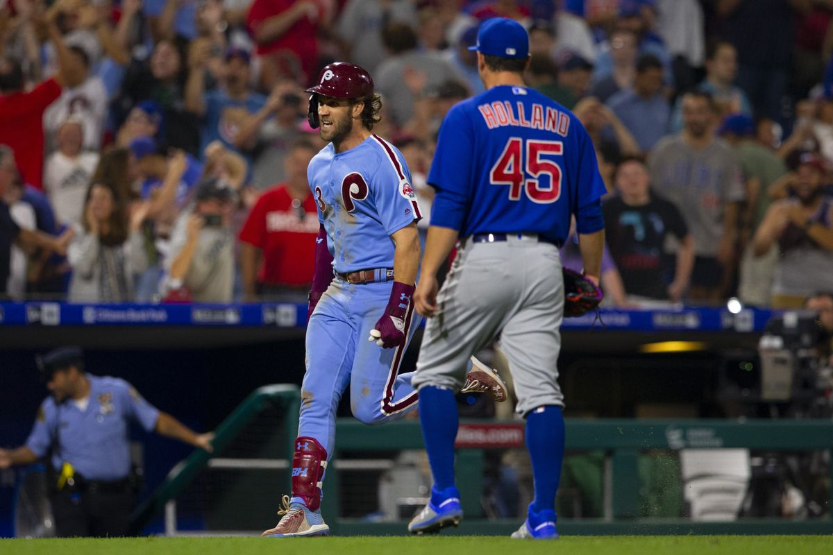 timeless design 990a0 f4b87 Most crushing loss of year for Cubs as Bryce Harper hits ...