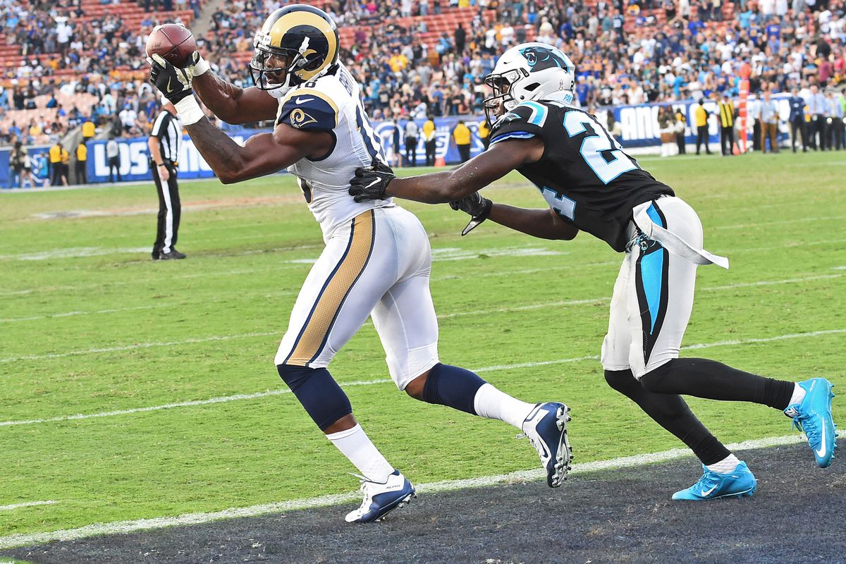 Kenny Britt scored a late Touchdown, but the Rams fell to Carolina.