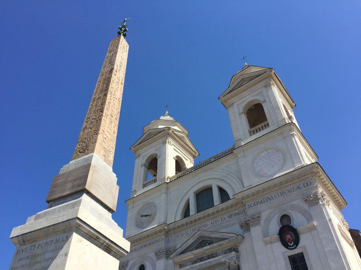 Trinità dei Monti at the top of the Spanish Steps in Rome. | Neil Steinberg/Sun-Times