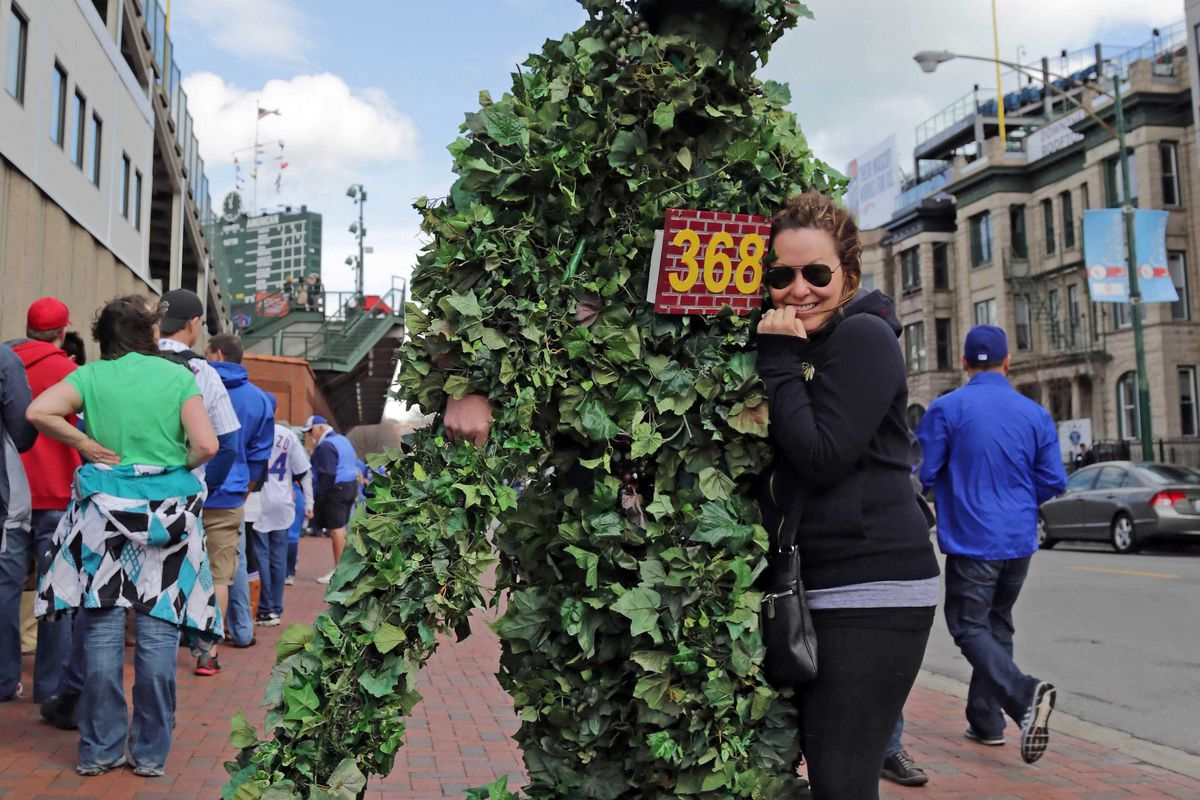 """""""Ivy Man"""" It's a thing. At Wrigley. Apparently. Let us never speak of it again."""