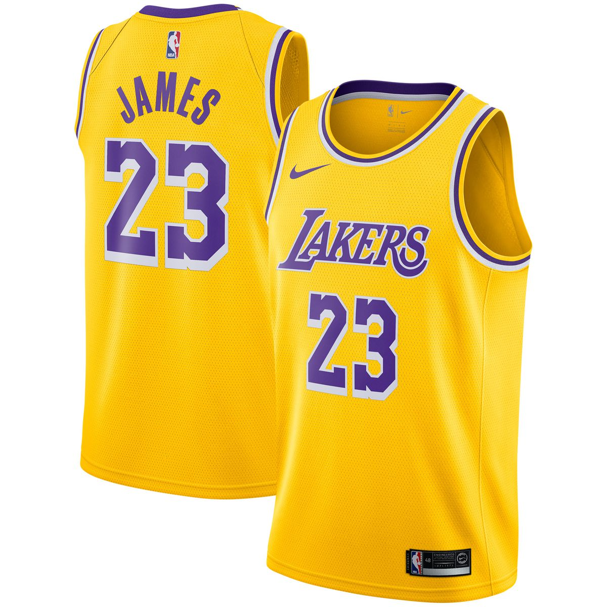 bc58f1e9434 LeBron James Lakers Nike 2018-19 Swingman Jersey for $109.99 Fanatics