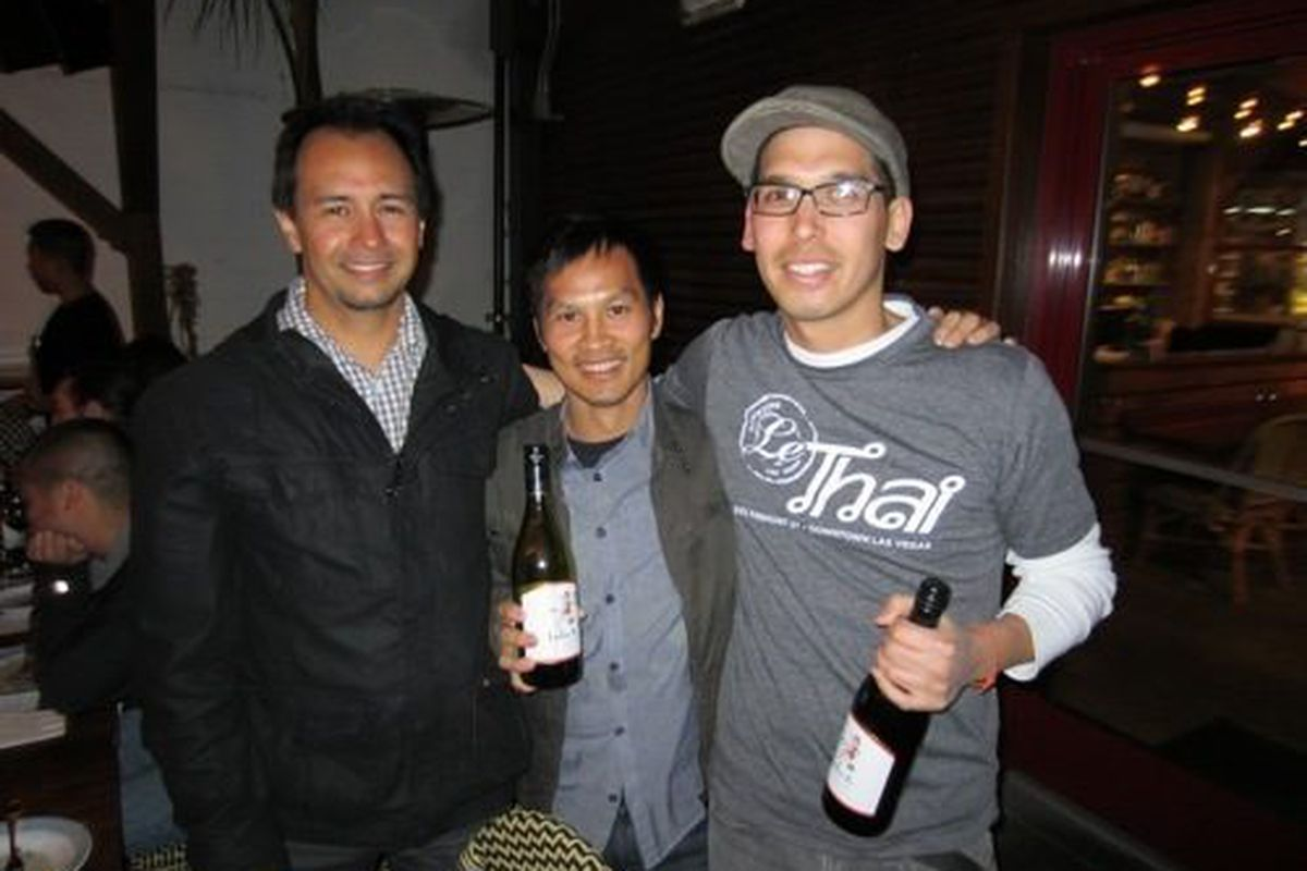 Rob Gurdison, Ly Dao and Daniel Coughlin, owner of Le Thai.