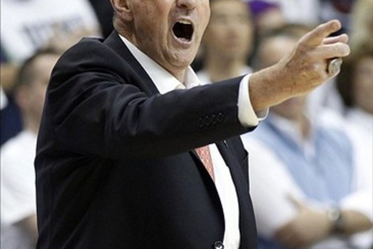 Jim Calhoun is back and taking his Huskies to a familiar place: the 9/16 game in the Big East tournament.
