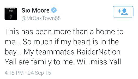 Sio Moore farewell