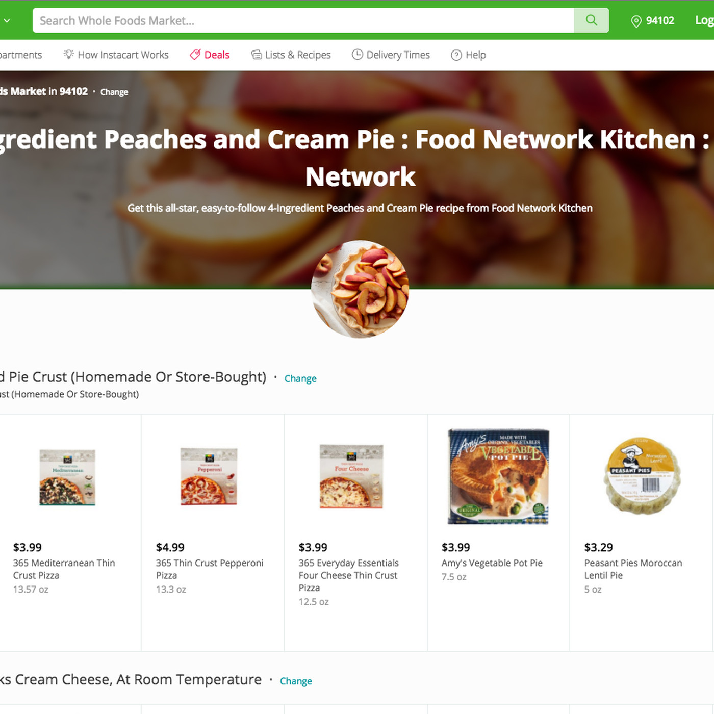 Instacart partners with the Food Network for recipe-ready deliveries
