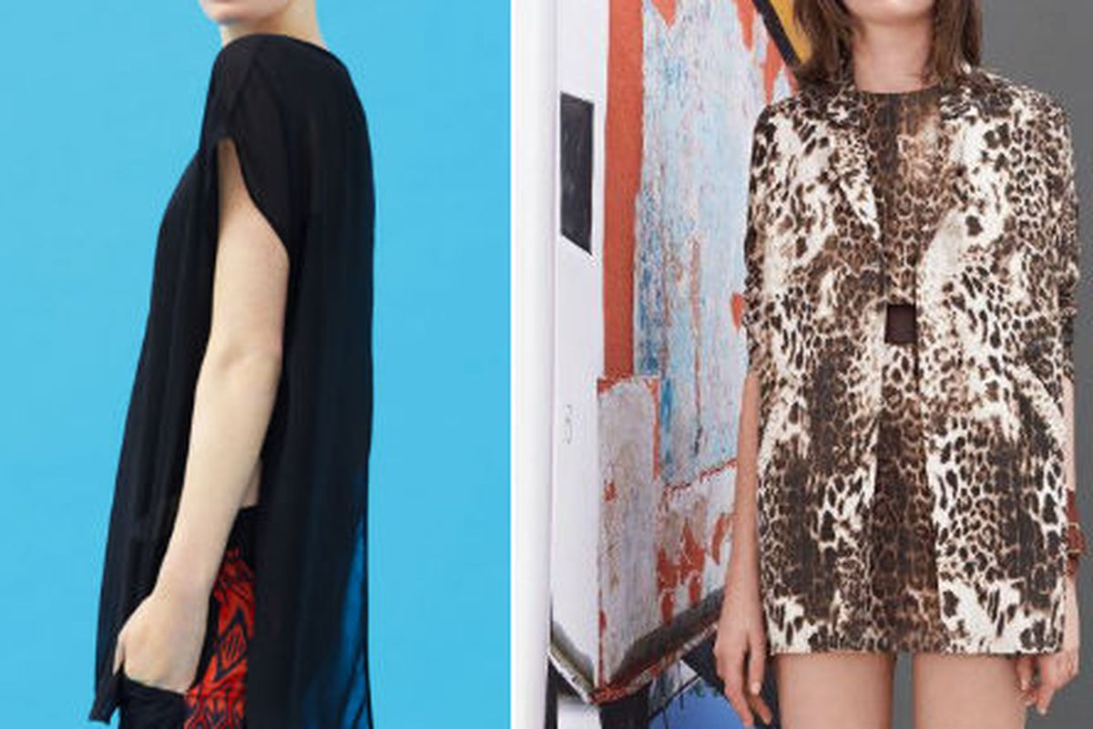 Looks from Sandro and Maje's spring collection