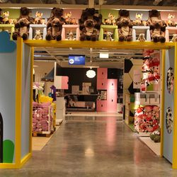 The kid's section is the funnest of them all, with tons of plush toys, colors and little nooks to play in.
