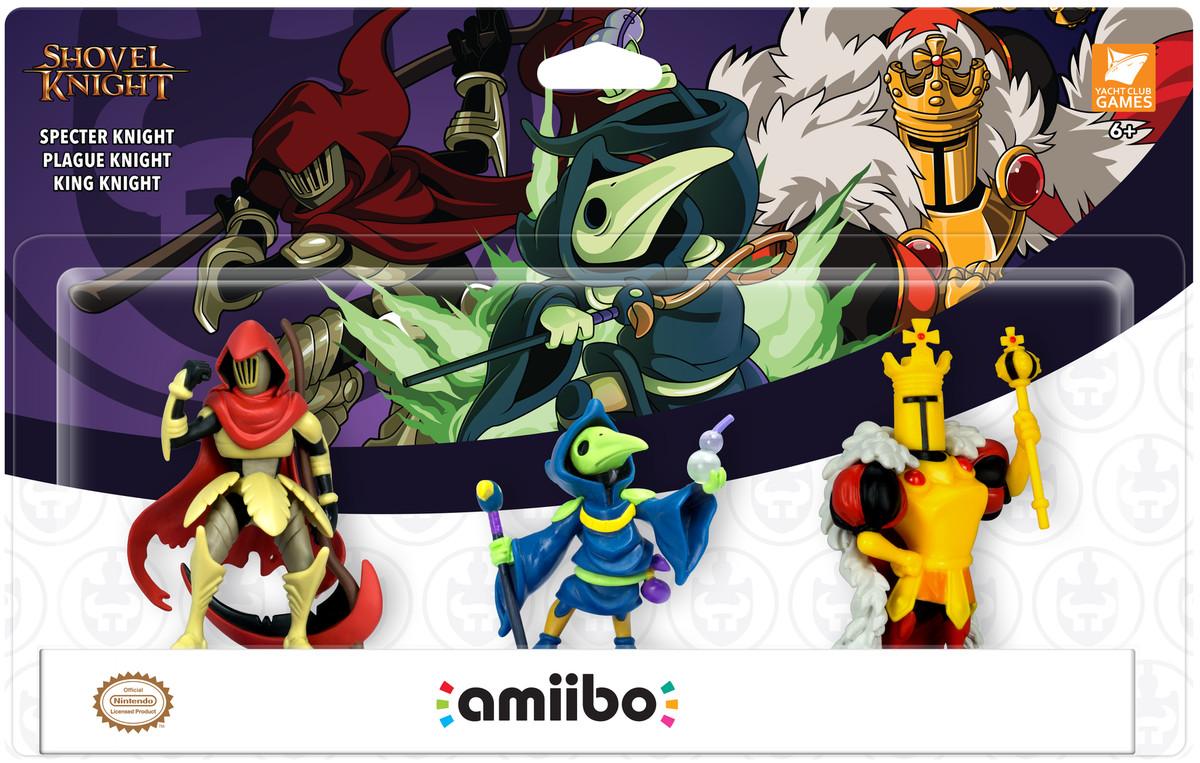 Shovel Knight amiibo three pack