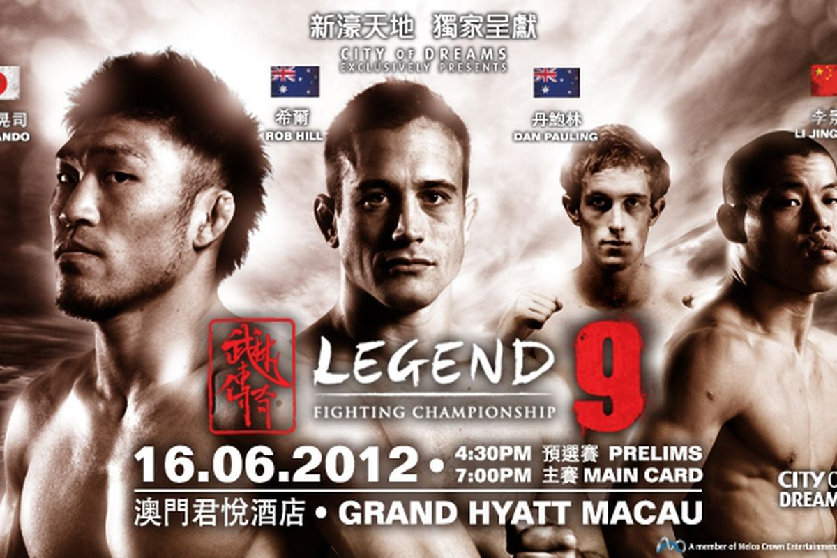 You can watch the Legend FC 9 undercard stream for free on YouTube