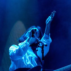 Mitski opens up for Lorde at Allstate Arena. | Erin Brown/Sun-Times