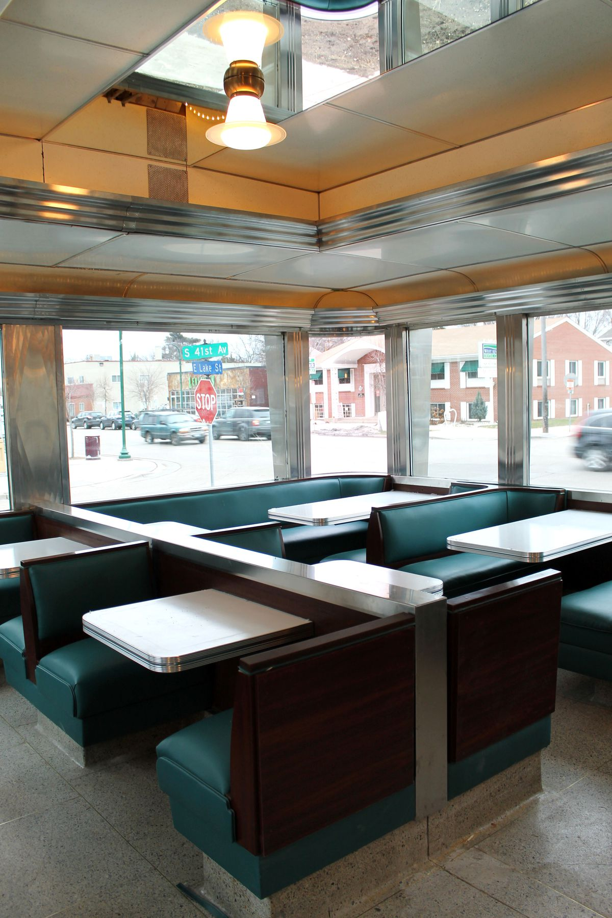 A first look inside the diner. Photo by Devan Grimsrud