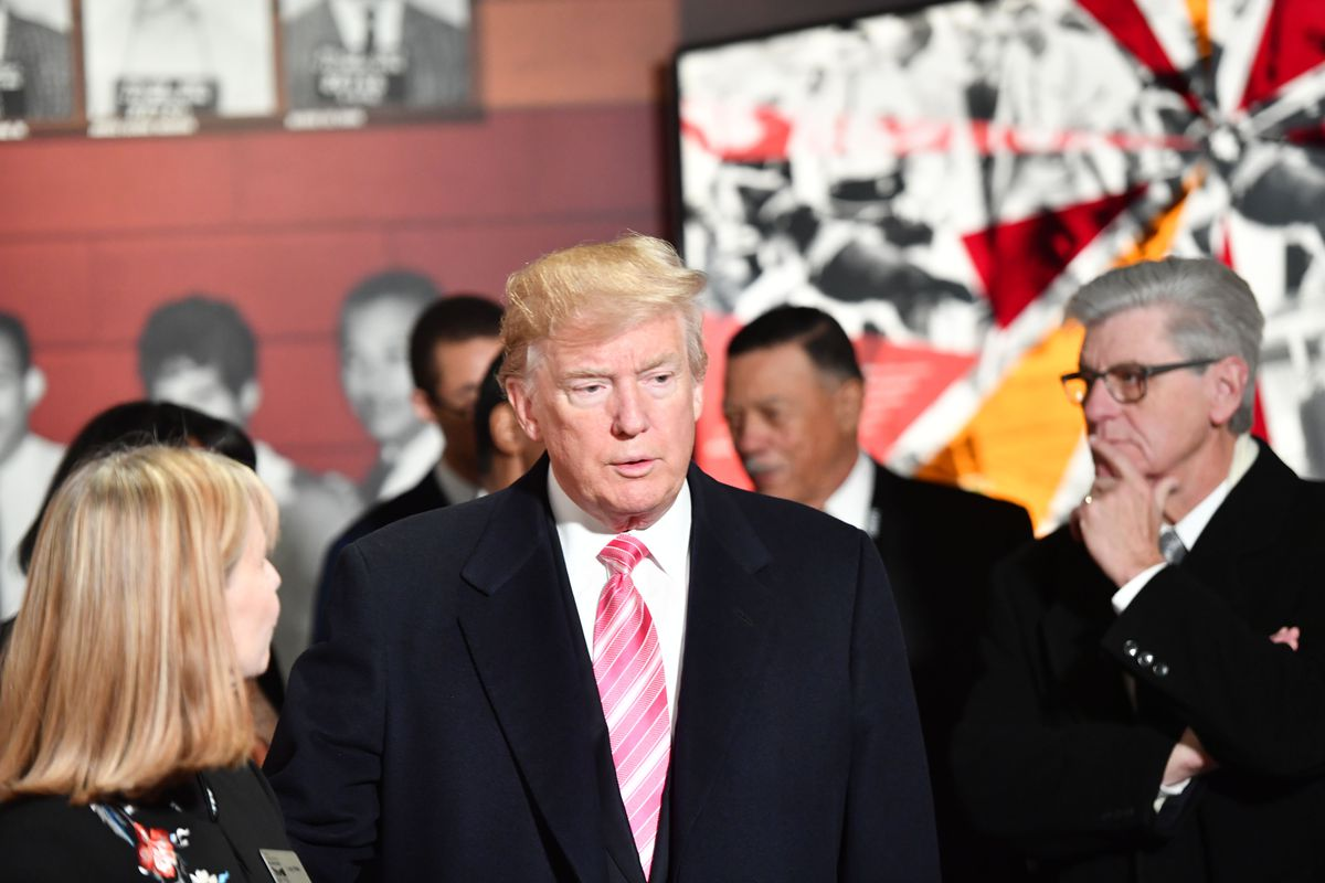 President Donald Trump visits the Civil Rights Museum in Jackson, Mississippi, U.S., December 9, 2017.