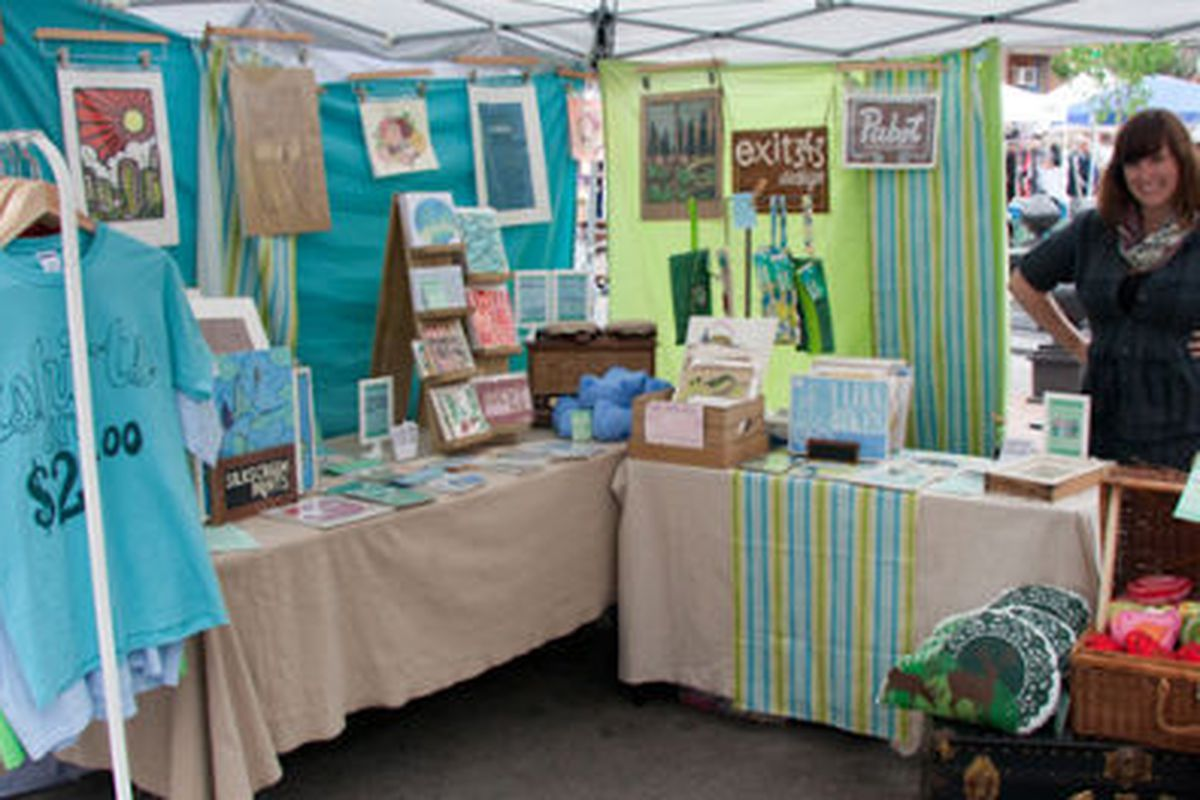 """The Exit343 Design booth. Image credit: <a href=""""http://www.artstarphilly.com/blog/"""">Art Star</a>"""