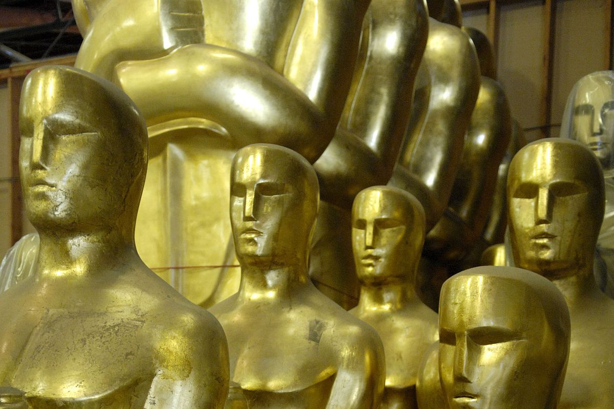 Oscar Statues Painted In Preparation For The 80th Academy Awards