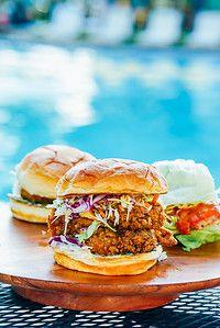 Hot chicken sandwich at Wild Bird