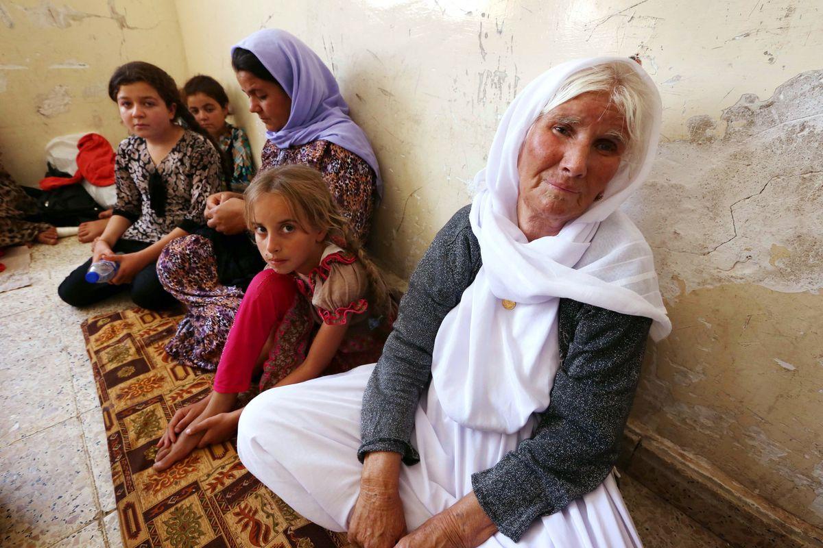 Yazidi refugees in Kurdistan.