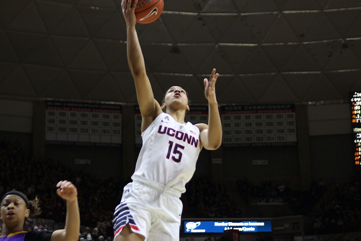Gabby Williams hopes to provide valuable minutes off the bench tonight for the UConn women.