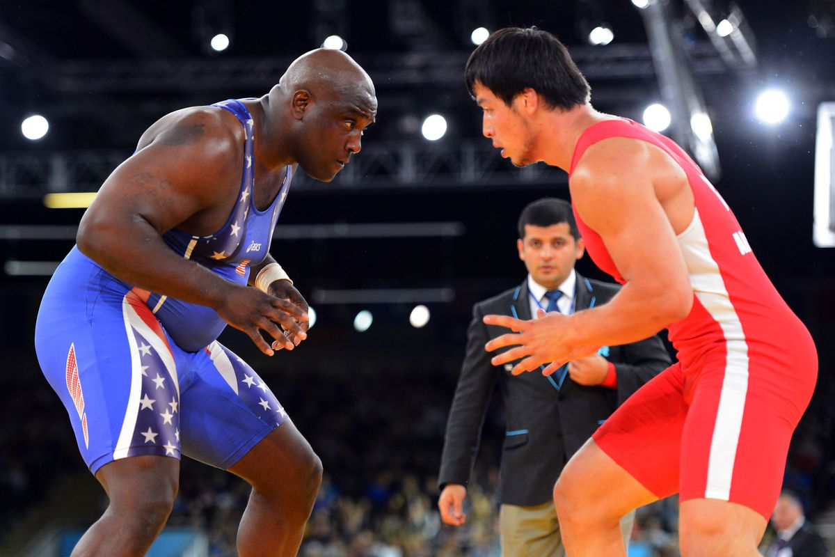 I did not watch either of these men wrestle. Mandatory Credit: Christopher Hanewinckel-USA TODAY Sports
