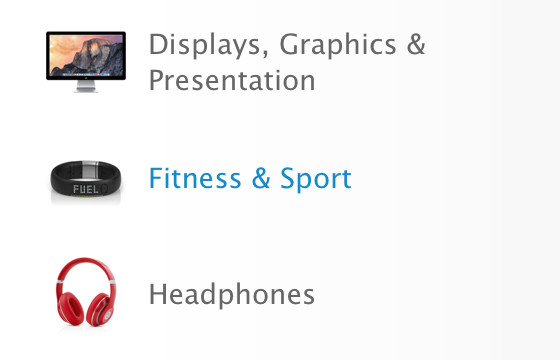 Apple Store fitness section