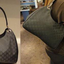 "<a href=""http://cgi.ebay.com/New-Gucci-Black-Jacquard-Hobo-Handbag-/180665248068?pt=US_CSA_WH_Handbags&hash=item2a107ce944#ht_12977wt_1141"" rel=""nofollow"">Gucci jacquard hobo bag</a>, currently at $439 on eBay"
