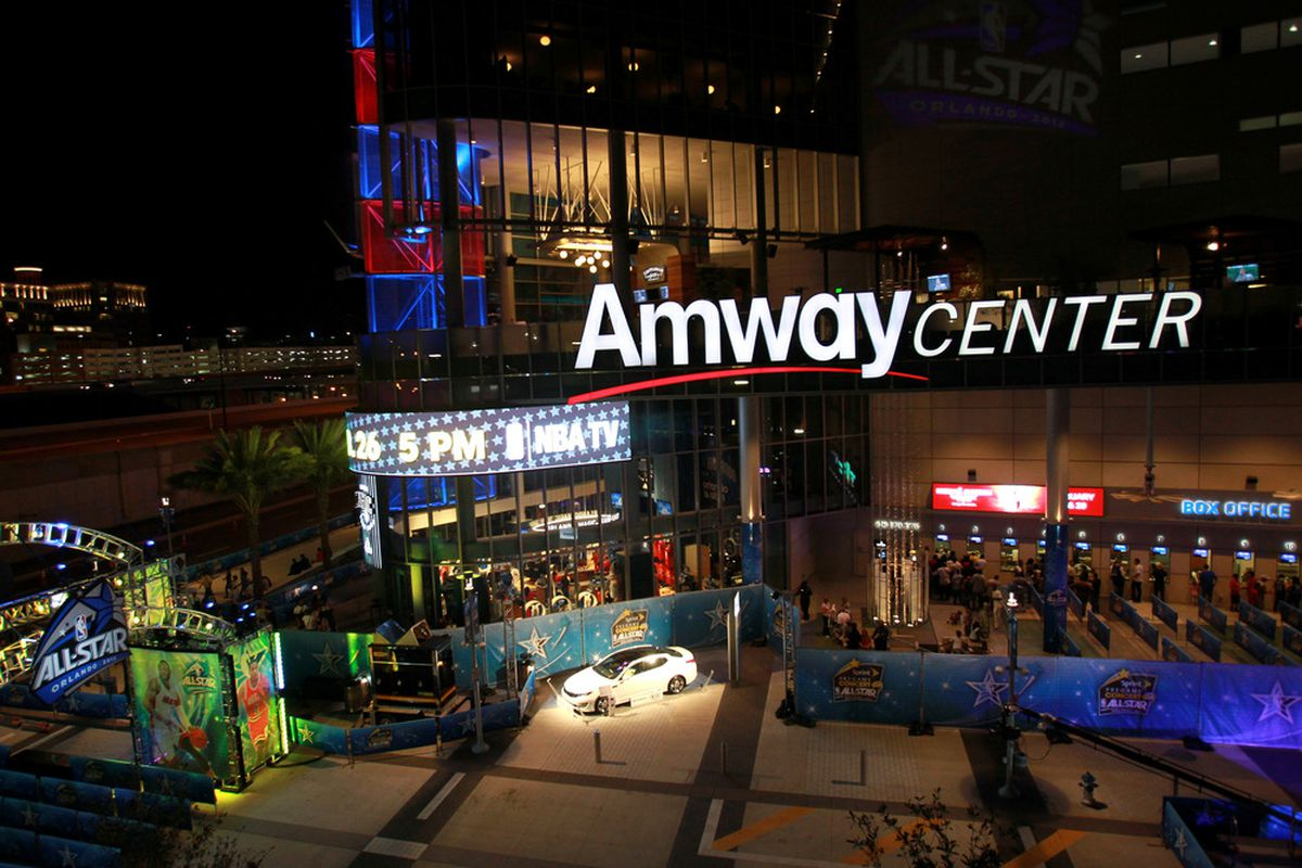 The Lightning are once again scheduled to play a preseason game in Orlando's Amway Center arena.  The seven game preseason schedule was released Thursday, June 28th.  (Photo by Ronald Martinez/Getty Images)