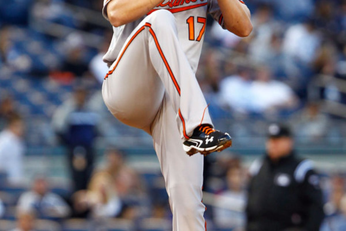 Birdland overfloweth with good feelings currently, but it's in Brian Matusz's hands (and Brady Anderson's glove) to keep them coming. Mandatory Credit: Debby Wong-US PRESSWIRE