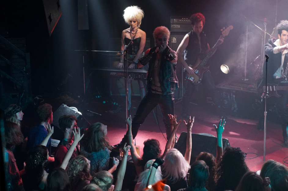 Billy Idol onstage at concert