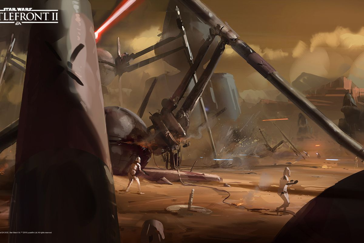 Star Wars Battlefront 2 S Concept Art Is Worthy Of A Star Wars