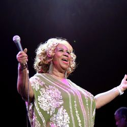 Aretha Franklin performs at Radio City Music Hall in New York in 2012 . | Neilson Barnard/Getty Images