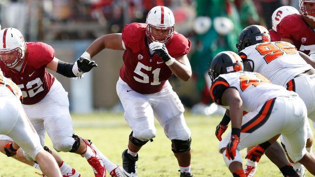 Stanford OL Joshua Garnett is a big senior who can play all along the line.