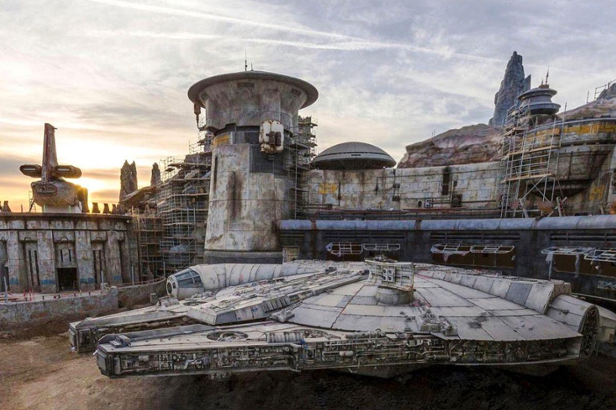 "Disneyland's new ""Star Wars""-themed land has a Millennium Falcon spaceship."