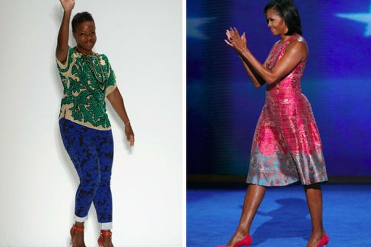 Tracy Reese and Michelle Obama, via Getty