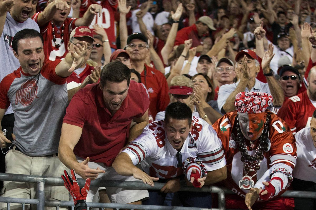 Ohio State students get plenty pumped for their Buckeyes.