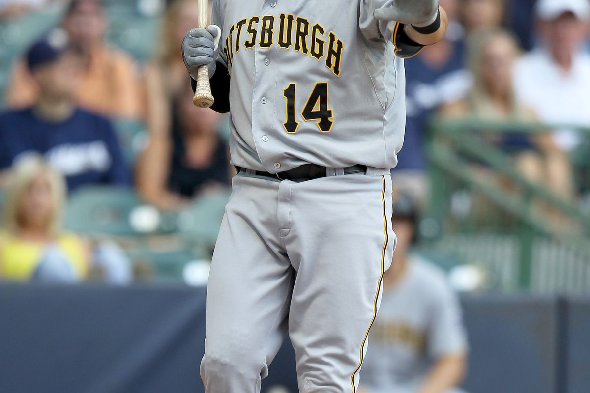 MILWAUKEE, WI - JULY 14: Casey McGehee has been acquired by the New York Yankees. (Photo by Mike McGinnis/Getty Images)