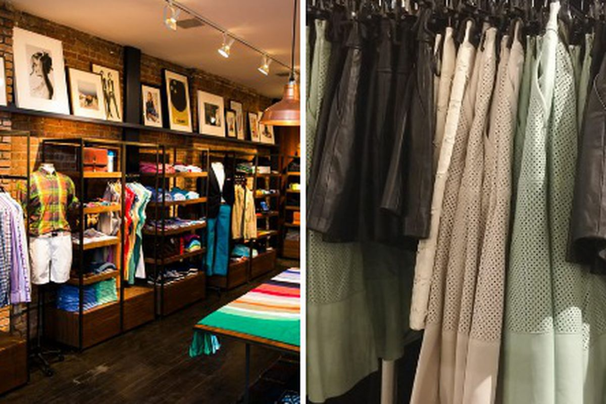 """Photos, from left: Bonobos; last spring's Rachel Zoe <a href=""""http://ny.racked.com/archives/2014/04/16/lots_of_choices_at_chelsea_markets_3_brand_sample_sale.php"""">sample sale</a>"""