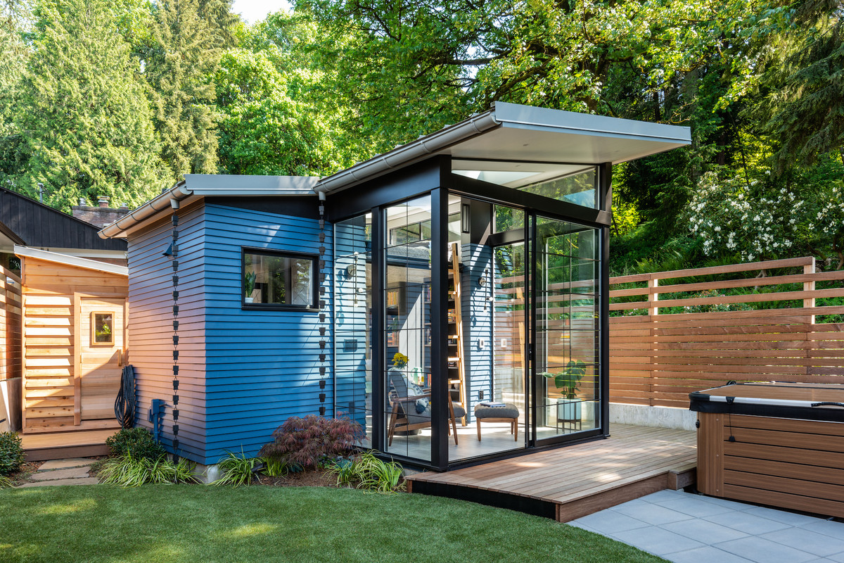 8 Staycation Worthy Tiny Homes For Sale: Backyard Shed Design Is A Dream For Readers