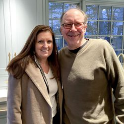 Insiders George Rajkowski and Colleen McEwen from Westfield, MA had a blast touring the newly renovated home and mingling with other guests.