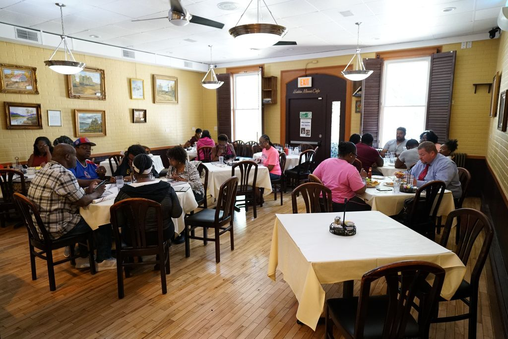 The dining room at Hidden Manna Cafe in Matteson, located at3613 216th St.