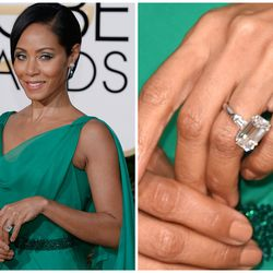 In November 1997, Will Smith offered this 12-carat emerald-cut ring to future wife Jada Pinkett.