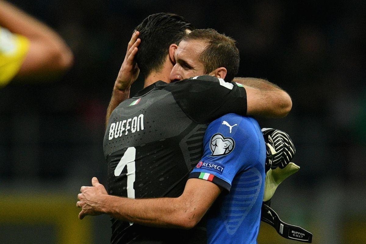 Gianluigi Buffon Giorgio Chiellini and Andrea Barzagli all