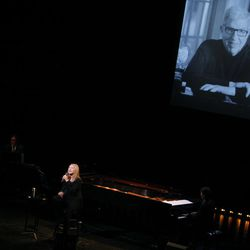 Barbara Streisand performs during A Tribute to Marvin Hamlisch, a memorial concert, at The Juilliard School's Peter Jay Sharp Theater, Tuesday, Sept. 18, 2012 in New York.