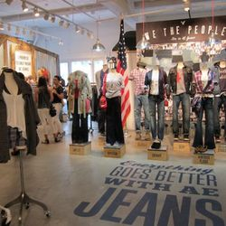 This is what the American Eagle Outfitters showroom in Manhattan looks like