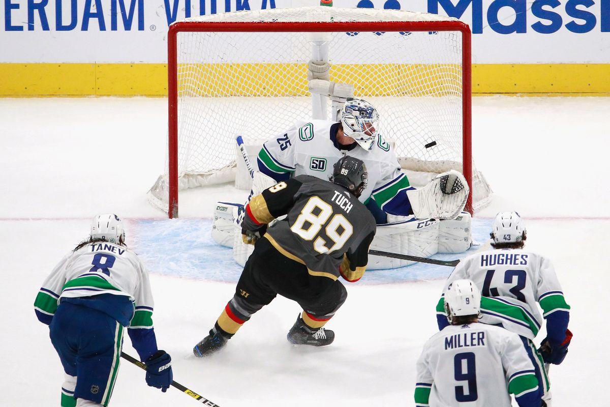Vancouver Canucks v Vegas Golden Knights - Game One