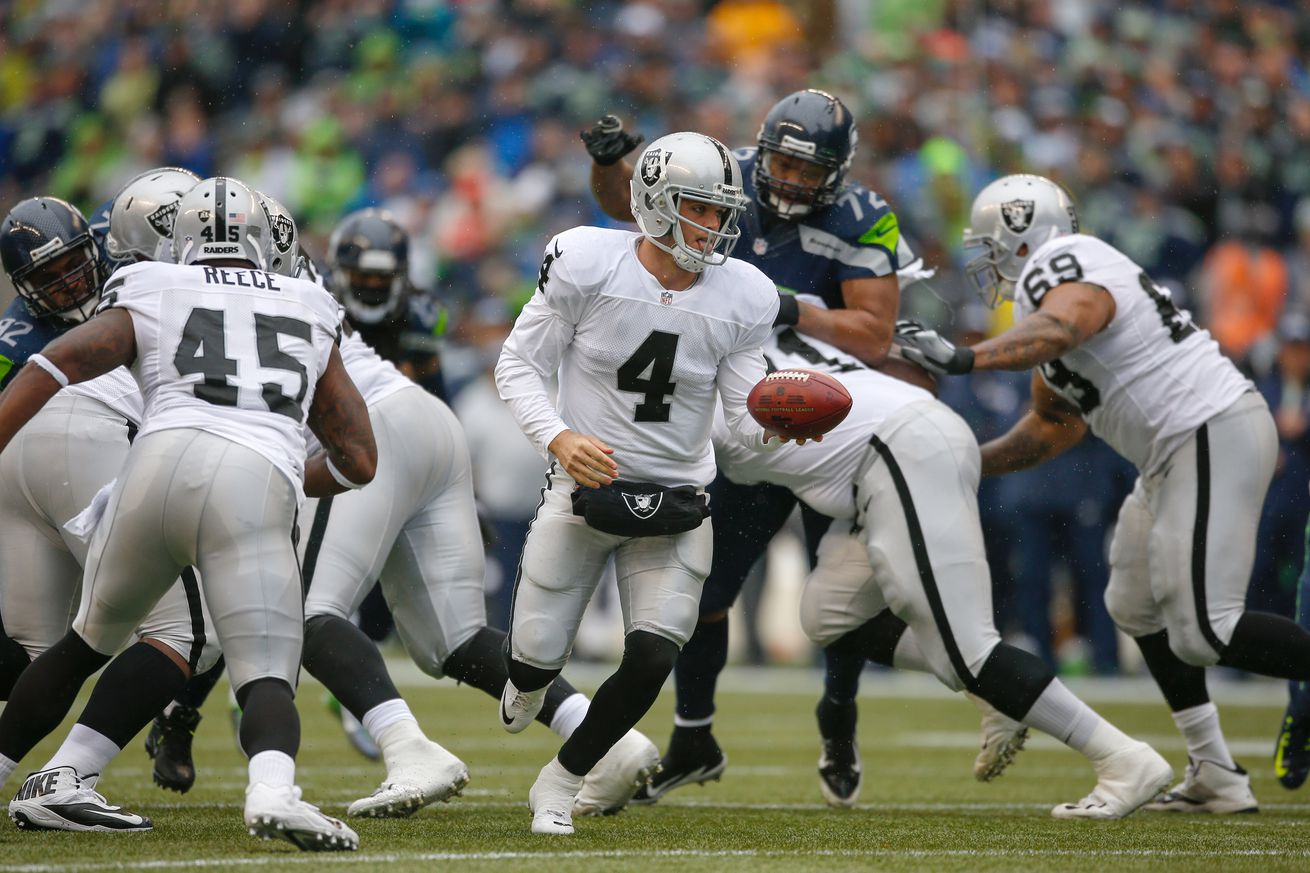 Derek Carr plans to give Marshawn Lynch the ball at the 1-yard line